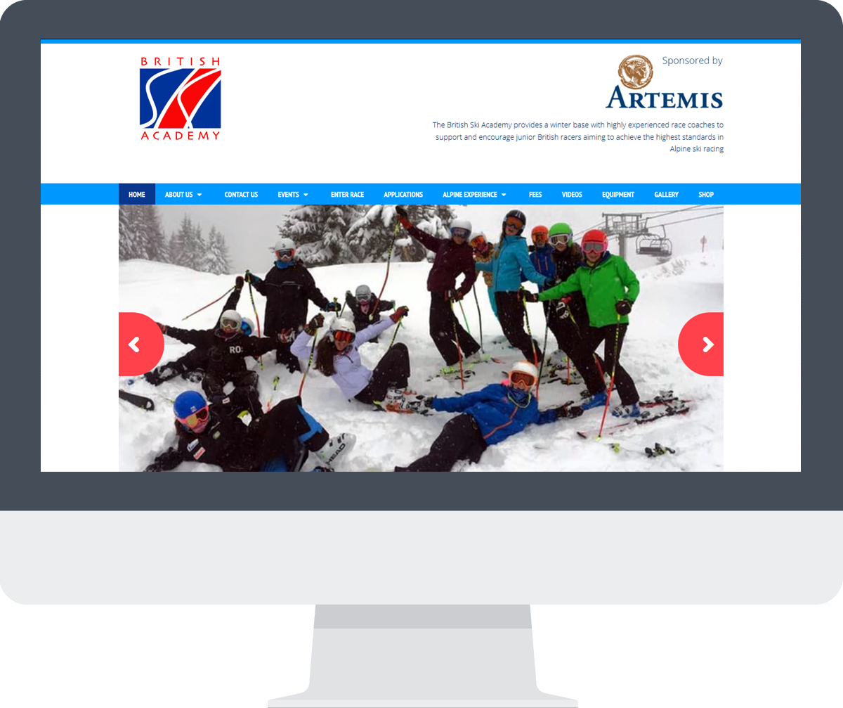 British Ski Academy Website